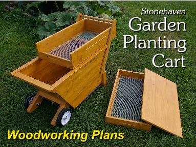 stonehaven garden planting cart - woodworking plans