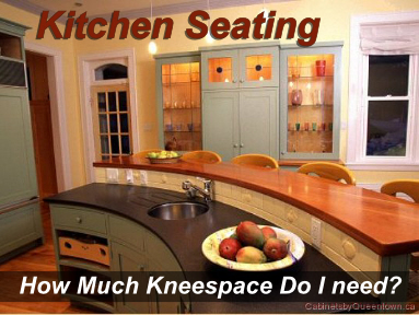 kitchen seating kneespace guidelines