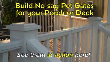 build pet gates for your porch or deck
