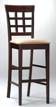 30in high Contemporary Counter stool - Cappuccino Finish