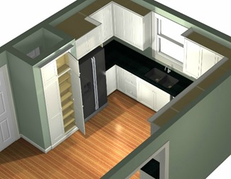 3-D view studspace pantry