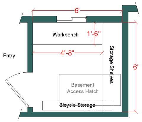 6 x 6 shop floor plan