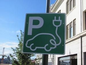 Electric Car parking sign in Reyjavik