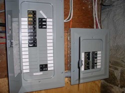 Entrance panel and generator transfer panel