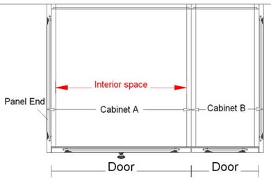 Frameless Cabinets Plan view Section