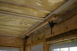 Installing cleat on ceiling to enclose 2in rigid foam insulation