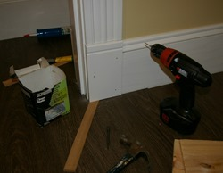 Installing plinth block