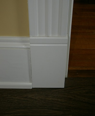 Simple Door Casing Plinth Blocks