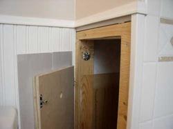 back of plumbing access panel