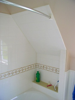 Tiling a sloped shower wall – Stonehaven Life