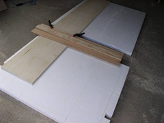 cut styrofoam sheet