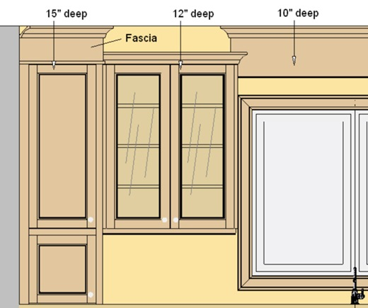 Kitchen with crown molding standard height upper cabinet for Standard crown molding size