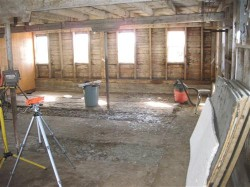 empty barn - before whitewashing