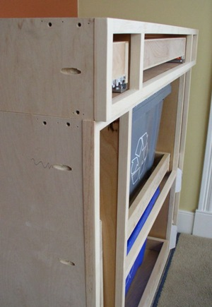 face frame attached to cabinet with pocket joints