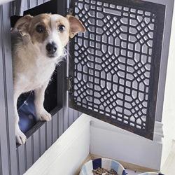 floor grate dog door