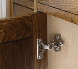 framed cabinet with inset european hinge
