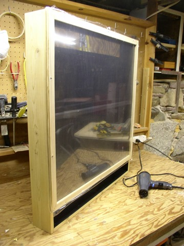 "front glazing has 3/8"" air space between two layers of insulating film"