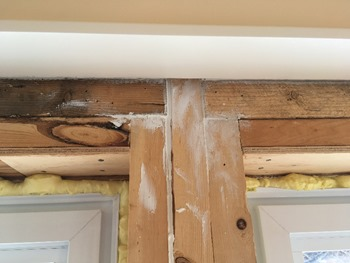 gaps between framing caulked to eliminate drafts
