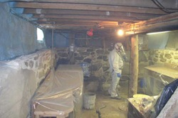 insulating basement with spray foam
