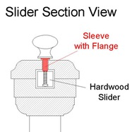 knob sleeve flange drawing