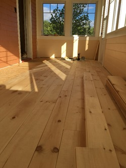 laying Tongue & groove Pine flooring