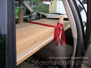 load tied together and secured to headrest rack - stonehavenlife