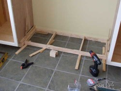 Mudroom Cabinet Toe Kick Installation