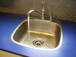 new faucet in operation