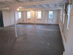 new poured concrete floor