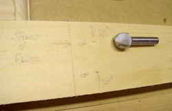 pilaster pencil marks and core box router bit