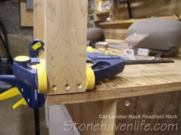 pre-drill for screws to avoid splitting the wood - stonehavenlife