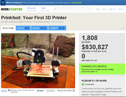 printrbot kickstarter funding project screenshot