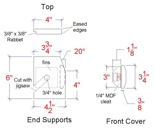 radiator detailed drawing