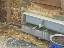 radiator during renovation