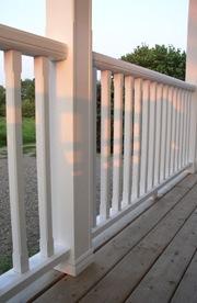 railing details create highlights & shadows