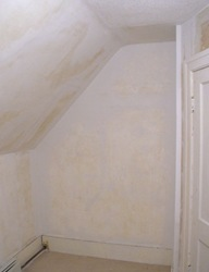 repaired plaster walls