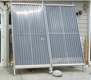 side by side solar air collector test - Gary Reysa