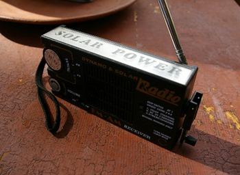solar-dynamo charge portable radio