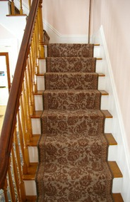 stairs with new carpet runner