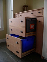 stonehaven mudroom recycling cabinet