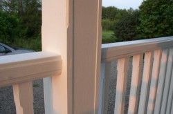 stopped chamfers in post and balusters