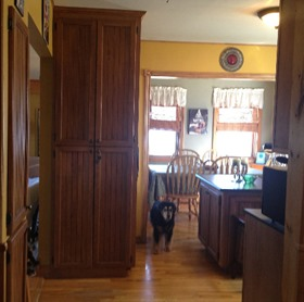 that's minstrel standing by the pantry