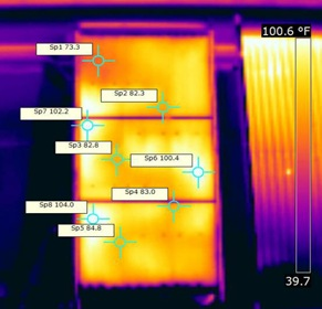 thermal image of backpass collector - Gary Reysa photo