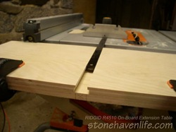 the top plywood layer makes slots for the mitre gauge - wm