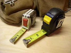 two measuring tapes