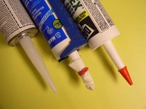 typical tubes of caulk