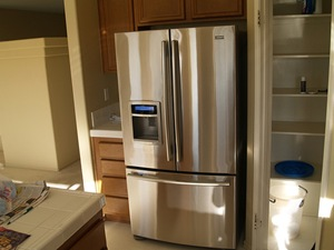Standard Depth French Door Fridge Occupies Valuable Aisle E